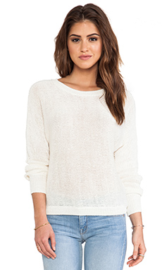 Joie Avici Linen Sweater in Porcelain
