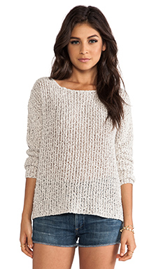 Joie Esther Textural Open Stitch Pullover in Natural