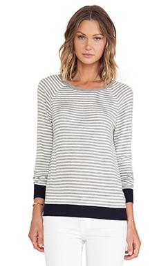 Joie Calaya Sweater in Heather Grey & Porcelain