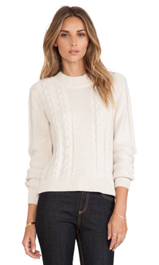 Joie Greer Sweater in Heather Parchment