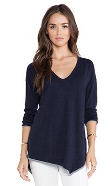 Joie Niami Sweater in Midnight Blue & Heather Grey