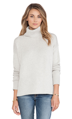 Joie Irissa Turtleneck Sweaterg in Heather Sterlin