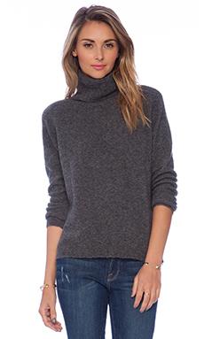 Joie Lizetta Turtleneck Sweater in Dark Heather Grey