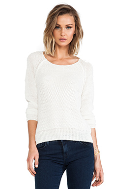 Joie Elana Open Stitch Pullover in Porcelain