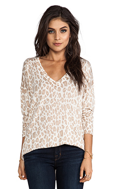 Joie Chyanne Bold Leopard Print Pullover in Eggshell