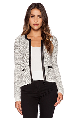 Joie Jacolyn B Jacket in Chalk & Caviar