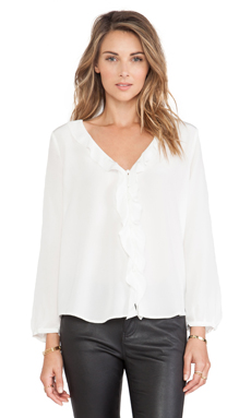 Joie Leonela Blouse in Porcelain
