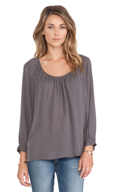 Joie Jodelina Blouse in Charcoal