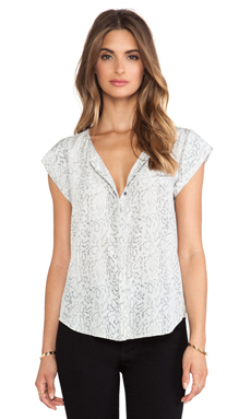 Joie Iva Blouse in Charcoal