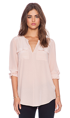 Joie Marlo Blouse in Picasso Pink