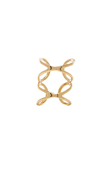 joolz by Martha Calvo Double X Knuckle Ring in Gold