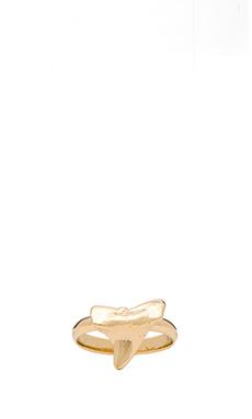 joolz by Martha Calvo Shark Tooth Midi Ring in Gold
