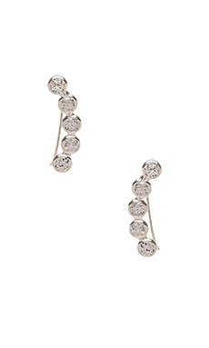 joolz by Martha Calvo CZ Bezel Ear Cuff in Silver