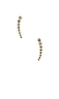 joolz by Martha Calvo Bezel Ear Cuff in Gold