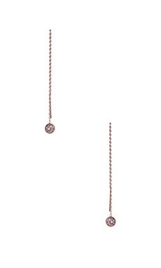 joolz by Martha Calvo Bezel Earring Threader in RoseGold