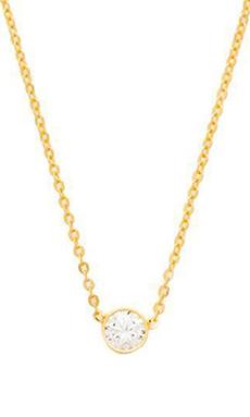 joolz by Martha Calvo Single Bezel Necklace in Gold