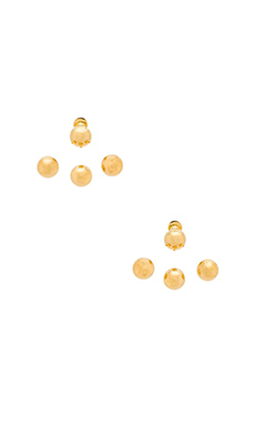 joolz by Martha Calvo Baller Earrings in Gold