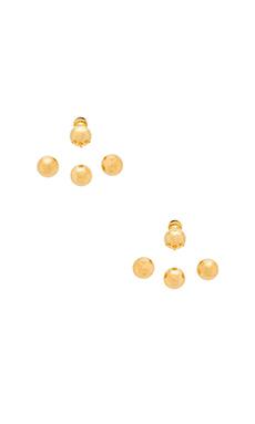 joolz by Martha Calvo Baller Earrings in Gold