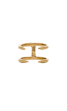 joolz by Martha Calvo Double Claw Ring in Gold