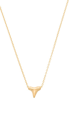 joolz by Martha Calvo Mini Shark Tooth Necklace in Gold