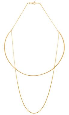 joolz by Martha Calvo Single Chain Choker in Gold