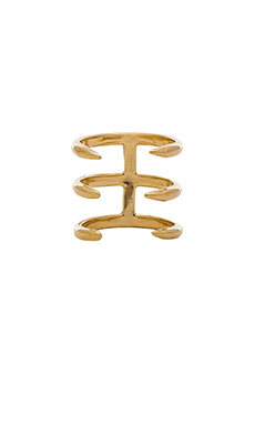 joolz by Martha Calvo Triple Claw Midi Ring in Gold
