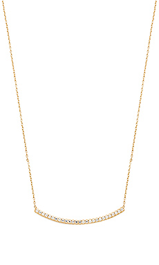 joolz by Martha Calvo Pave Bar Necklace in Gold