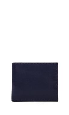 Jack Spade Wesson Leather Bill Holder Wallet in Blue/Black & White