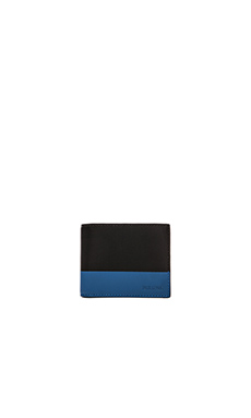Jack Spade Dipped Leather Bill Holder in Black Blue