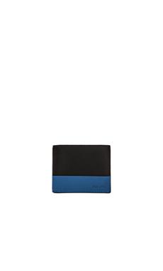 Jack Spade Dipped Leather Bill Holder in Black Blue