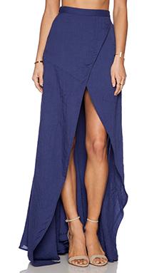 THE JETSET DIARIES Her Allies Maxi Skirt in Navy