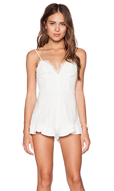 THE JETSET DIARIES Love Struck Romper in White
