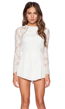 THE JETSET DIARIES Climbing the Wall Romper in White
