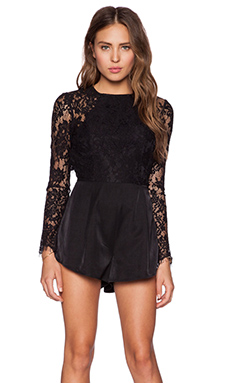THE JETSET DIARIES Climbing the Wall Romper in Black
