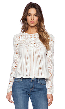 THE JETSET DIARIES Thinking About You Top in White