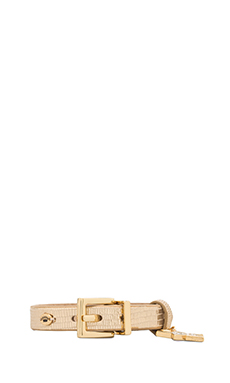 Juicy Couture Star Leather Bracelet in Gold