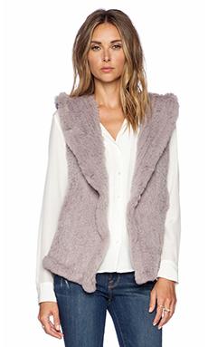 June Sheared Rabbit Fur Vest in Dove