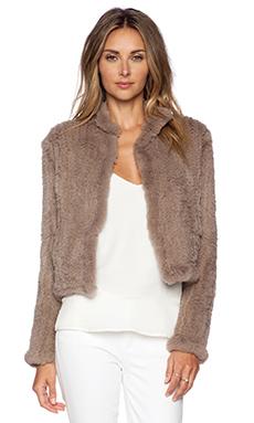 June Sheared Rabbit Fur Jacket in Dust