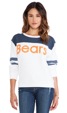 Junk Food Bears Fleece in Electric White & New Navy