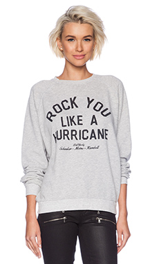 Junk Food Rock You Sweatshirt in Light Heather Grey