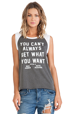 Junk Food Get What You Want Muscle Tee in Pepper & Electric White