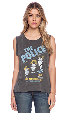 Junk Food The Police Wanderer Tee in Pepper