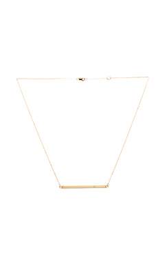 HORIZONTAL BAR NECKLACE WITH DIAMOND