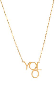 Jennifer Zeuner Block YOLO Necklace in Yellow
