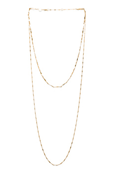 Jennifer Zeuner Asturia Double Necklace in Yellow