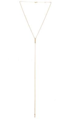 Jennifer Zeuner Pia Extended Necklace in Yellow Vermeil