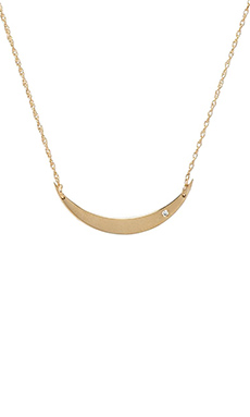 Jennifer Zeuner x REVOLVE Sky Necklace with Diamond in Yellow Vermeil
