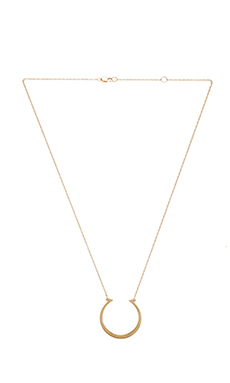 Jennifer Zeuner Trudie Necklace in Yellow Vermeil