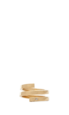 Jennifer Zeuner Celine Ring in Yellow Vermeil