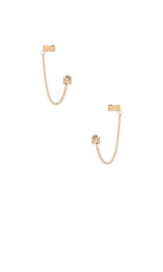 Jennifer Zeuner x REVOLVE Violet Stud Earring in Yellow Vermeil